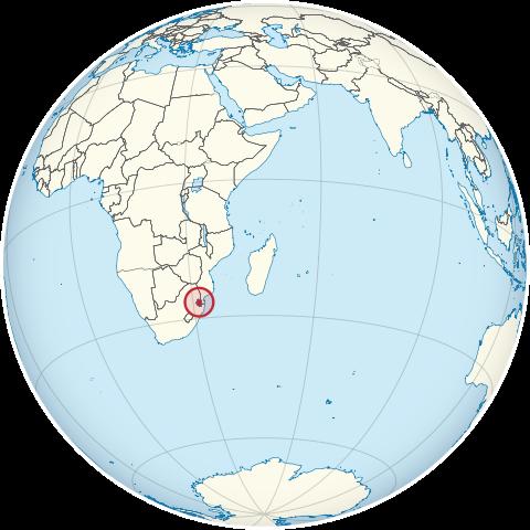スワジランドの位置