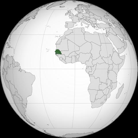 セネガル共和国の位置